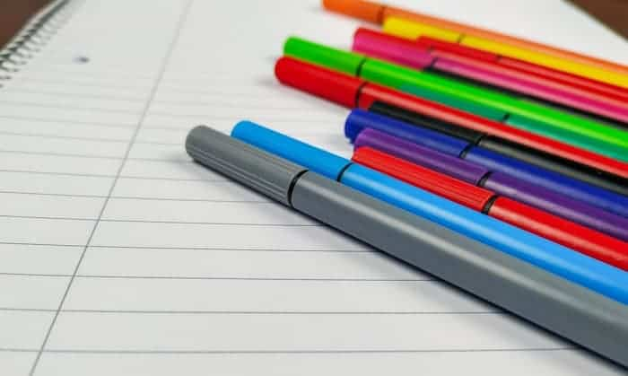 best colored pens for note taking