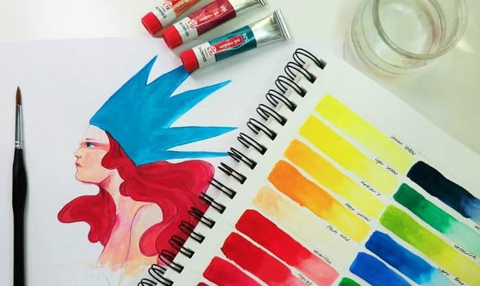 gouache-on-watercolor-paper