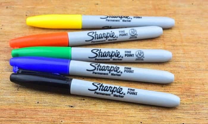are sharpies toxic on skin