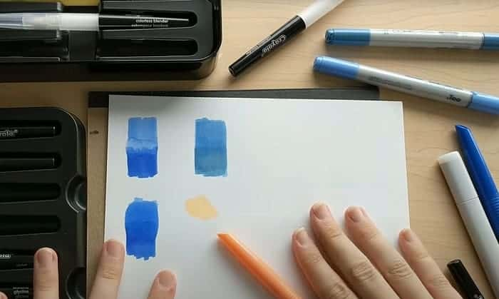 how to blend crayola markers