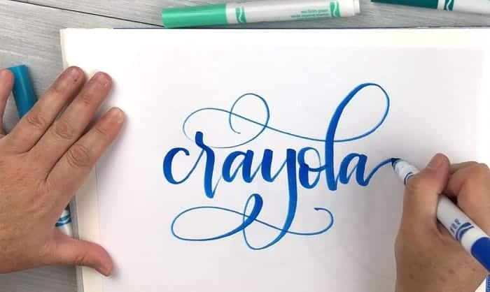 how to do calligraphy with crayola markers