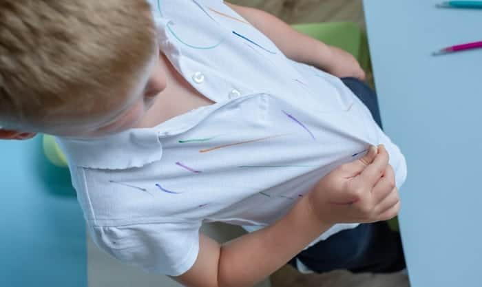 how to remove dry erase marker from clothes