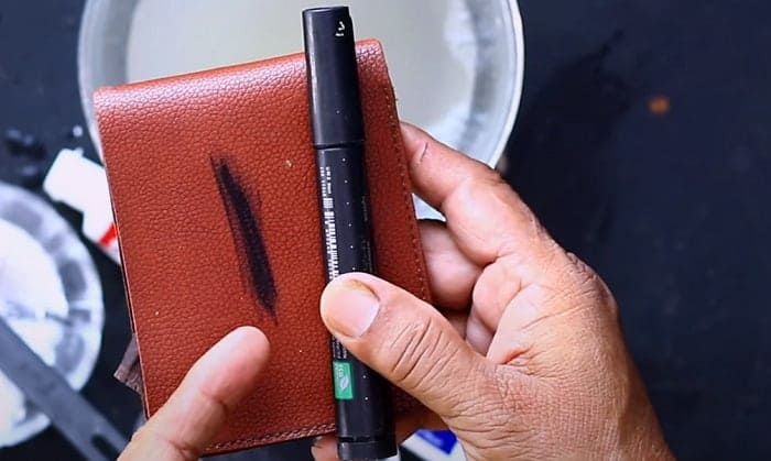 how to remove permanent marker from leather