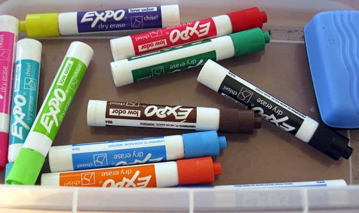 why does dry erase marker-remove-sharpie